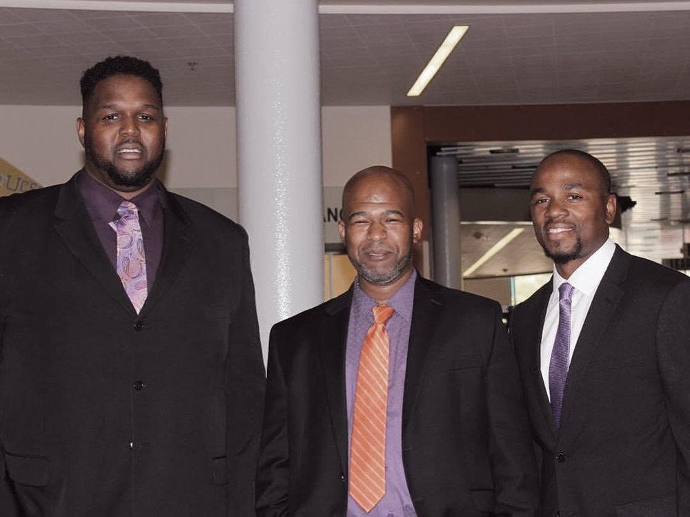 (L-R) Marcus Harden, CJ Dancer, Willie Seals