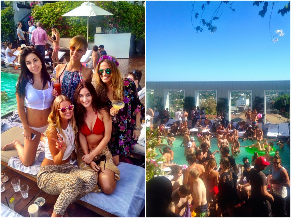 I have been to a handful of fun pool parties at the Mondrian hotel.