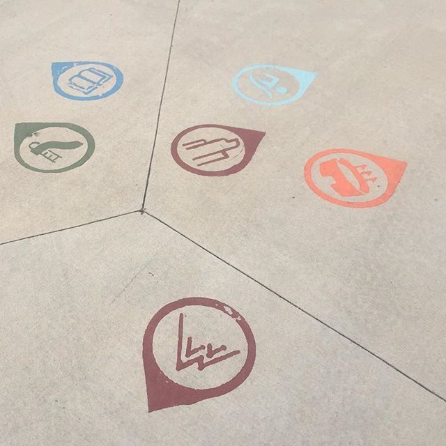 Quick poll: do you like or dislike these wayfinding icons on the ground on the Lakewood Gulch Trail?