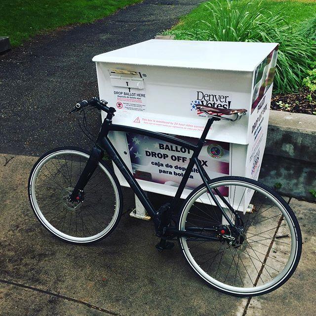 #bikesomewhere and vote.