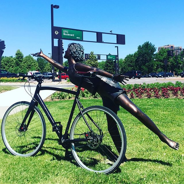 Wait, is that a bicycle at the Denver Tech Center?? #bikesomewhere #thingsyouthoughtwereimpossible