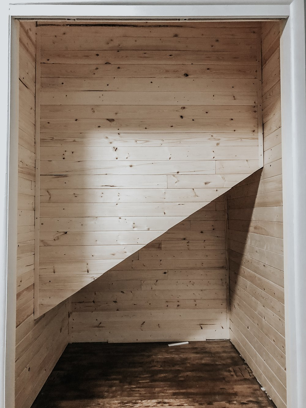 Closet makeover - shiplap