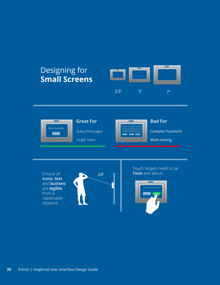 Adding an infographic to explain how to design for our smaller touch panels.