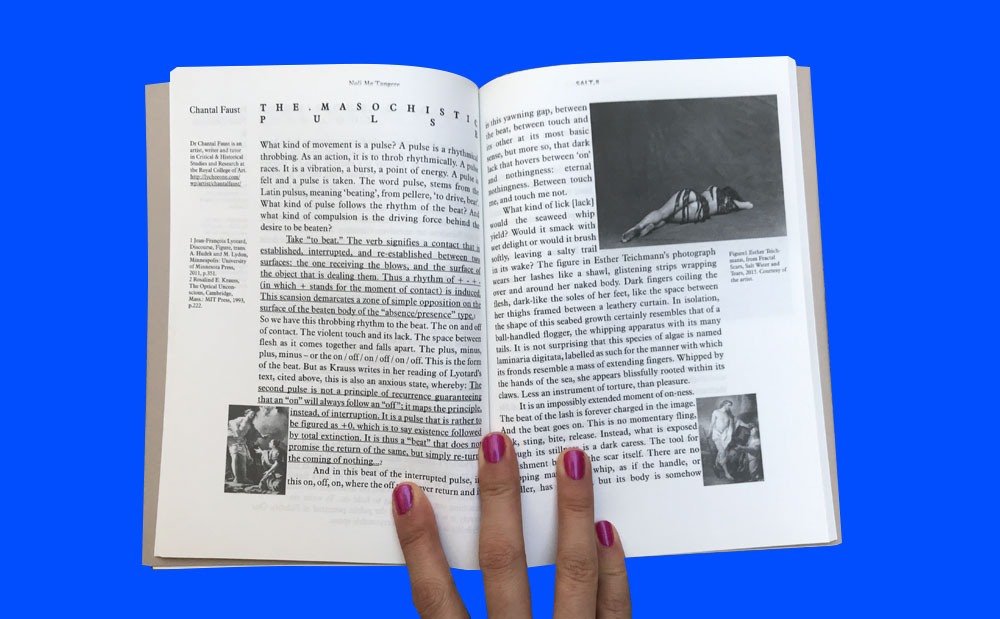 SALT. - SALT. is a contemporary art and feminism publication based in London, founded in 2012. It publishes essays, art writing, poetry, and artwork; each issue explores a selected theme and is accompanied by events that act as a platform for new discussions and debate.