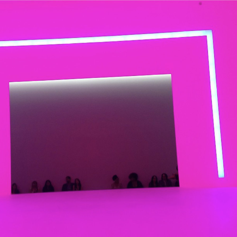 James Turrell,  Breathing Light,  2013, LED light into space, Los Angeles County Museum of Art