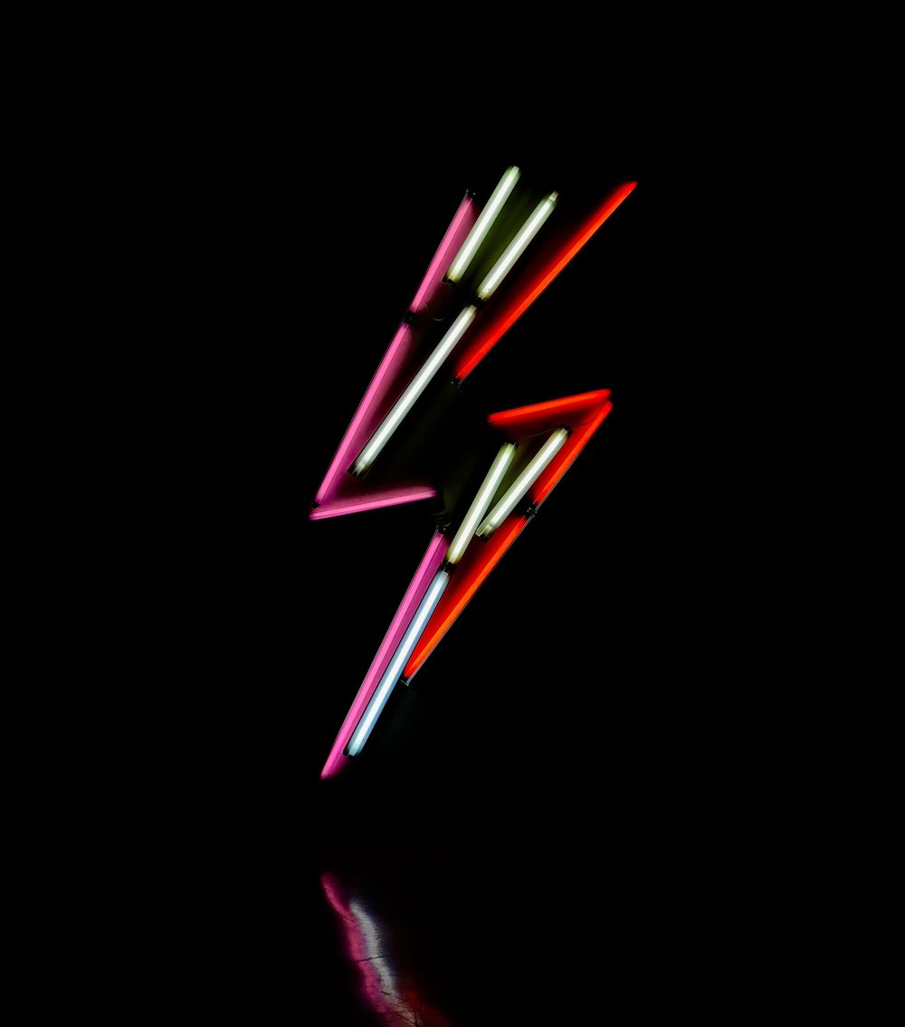 Neon Light Art  (especially when it pays homage to Ziggy Stardust)