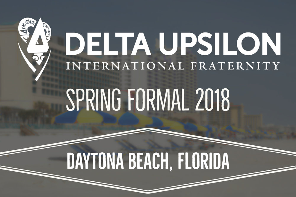 Beach Weekend - 4/23/18Beach Weekend was a total success, and a great way to cap off the 2017-2018 school year. The weather was not on our side, however the Delta U brothers made the most of it. On Saturday night we attended our highly anticipated formal at the Jackie Robinson Ballpark. Come Sunday, we packed back into our cars and made the long drive back to campus. We are extremely thankful to those that put all their time and energy into making Beach Weekend 2k18 the great event that it was.Δικαια Υποθηκη.