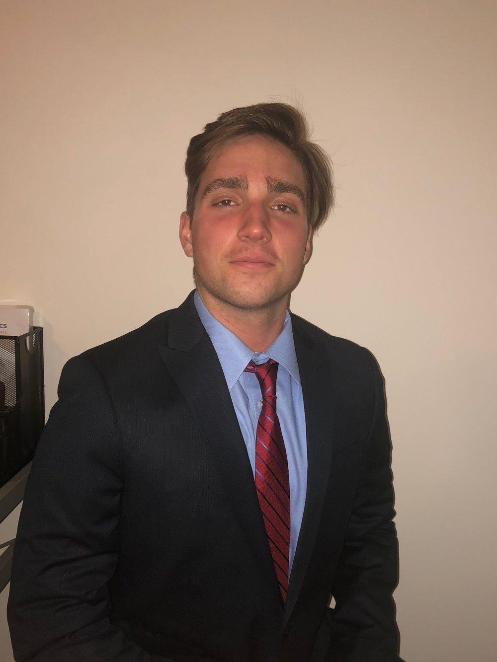 VP of External Affairs - Kyle HauptmanClass of 2021Major: Finance & MarketingHometown: Smithtown, NY