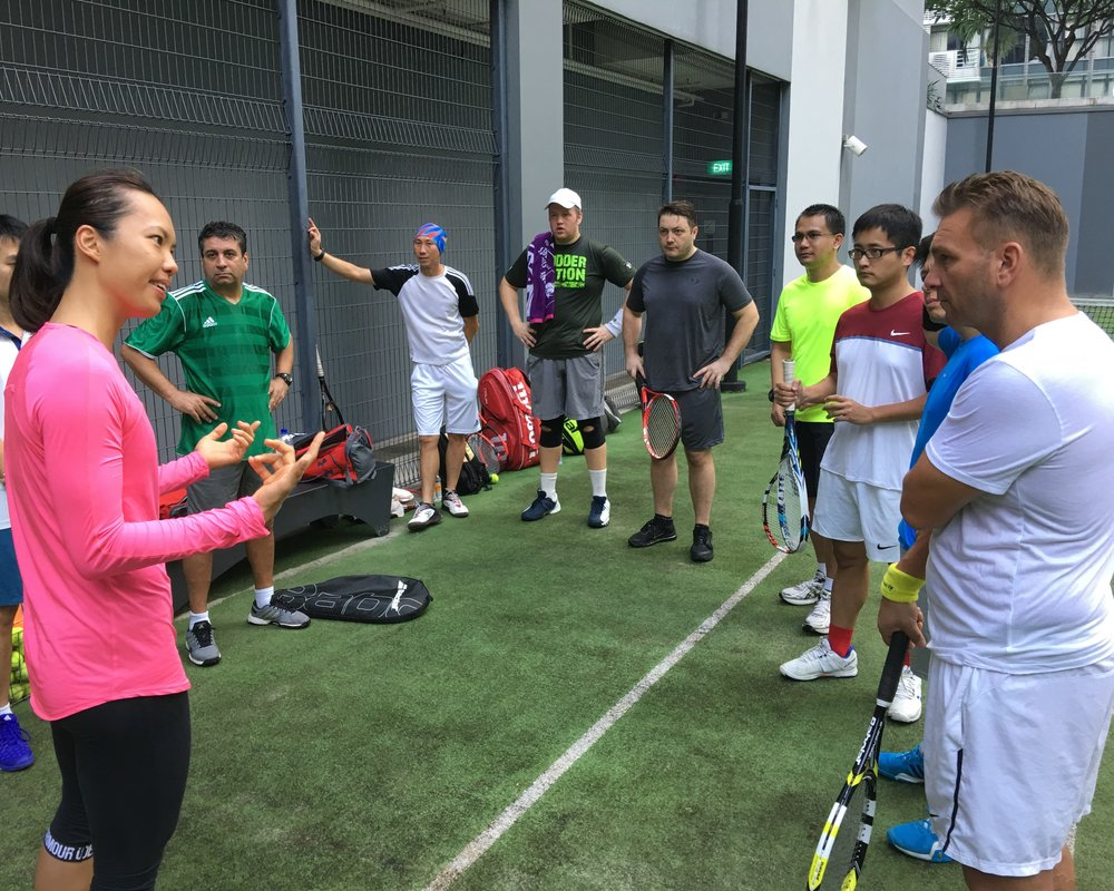 Play Tennis Lessons Corporate Workshop