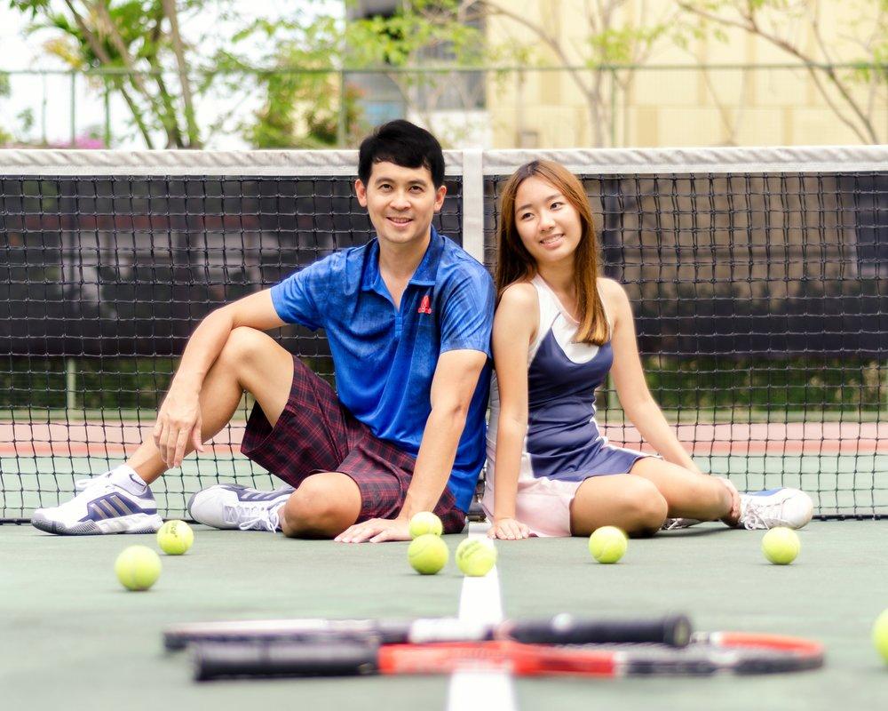 Play Tennis Lessons Hitting Partner