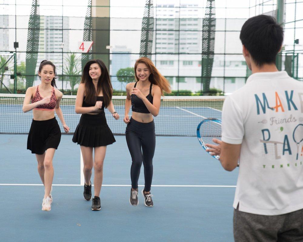 Play Tennis Lessons Coach Ladies