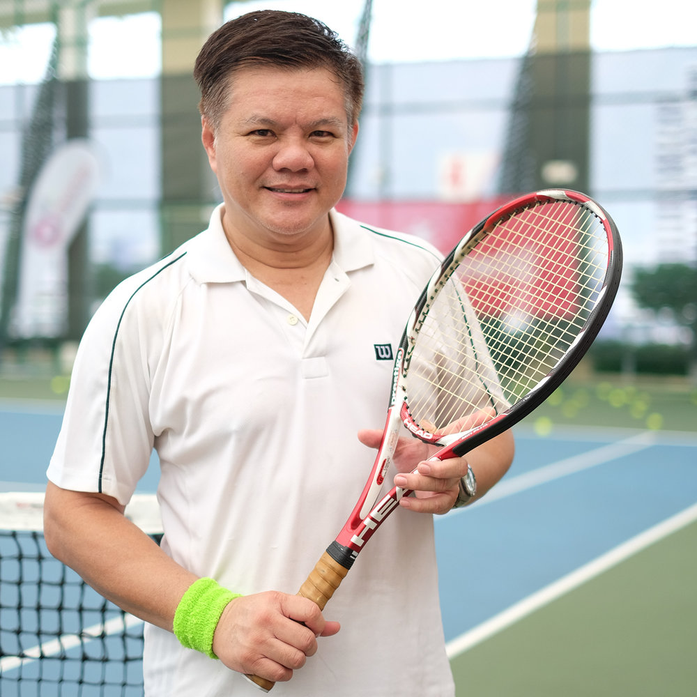 Great Form of Exercise - Playing tennis for me is a great form of exercise. It is fun and gives me a great workout! I feel healthier and more positive when I started playing tennis regularly.Play! Tennis organises regular tennis classes and I'll recommend them to anyone who wishes to improve their game or to get some exercise.Dave Ng