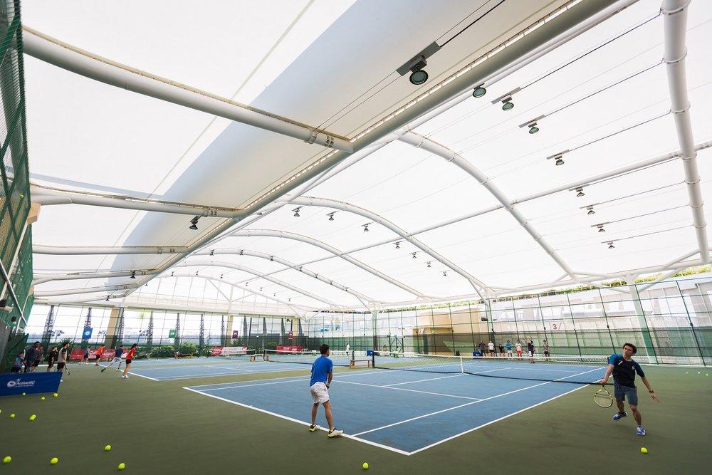 Indoor tennis courts at Heartbeat Bedok
