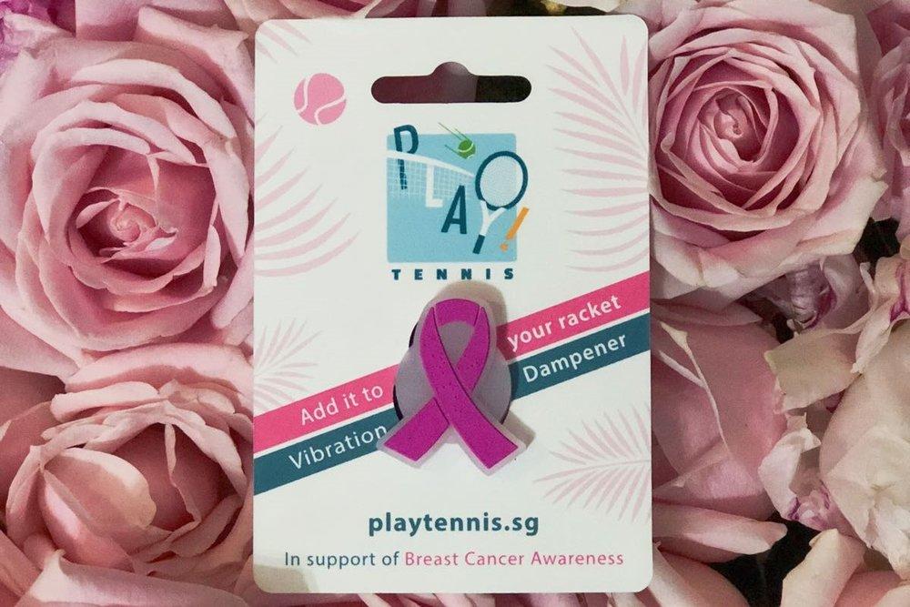 Play! Tennis Racquet Dampener on a Blister Card