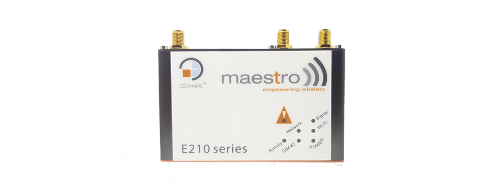 New Maestro E210 Series - Cost-efective, rugged LTE routers With WAN, LAN, Wi-Fi and serial connectivity, the E210 Series of M2M routers is designed for mission-critical industrial applications