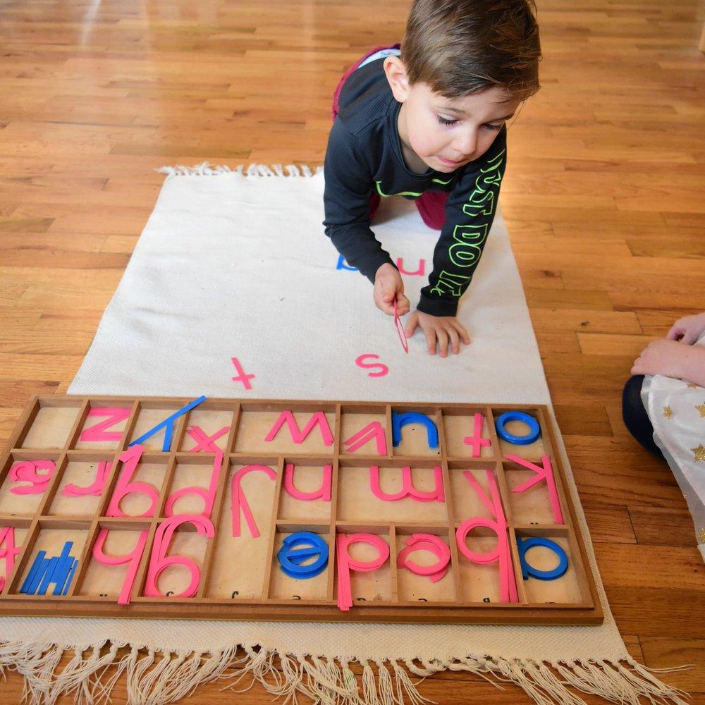 Movable Alphabet lesson