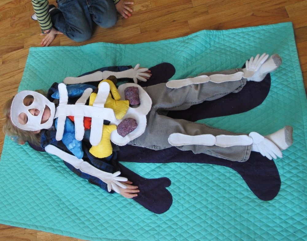 Children learn about the human body