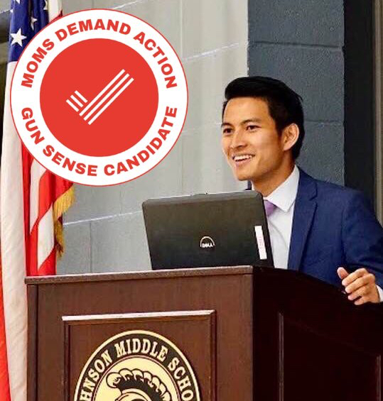 Matt Nguyen supports Moms Demand Action-Orange County.