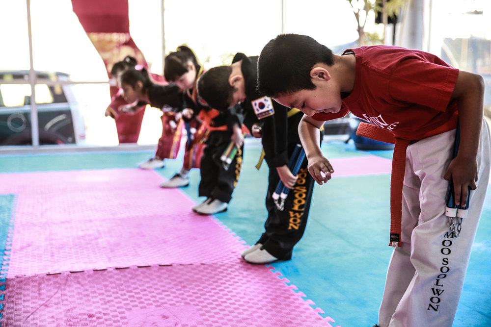 A HEART OF TRADITION - Traditional Martial arts training provides both physical and mental discipline, as training constantly pushes one past his or her comfort zone. Moorimgoong reaches to instill respect as there is a clear hierarchy for students to follow in terms of belt rankings – although there is mutual respect for all martial artists, respect is earned in the martial arts world. Additionally, we teach integrity that each student learns not to abuse their skills to hurt others.