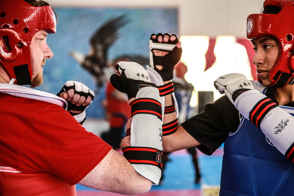 SPARRING CLASSES - Classes for all ages and levels who wish to add the contact aspect of martial arts in their training. Great for applying technique as well as getting a phenomenal workout.