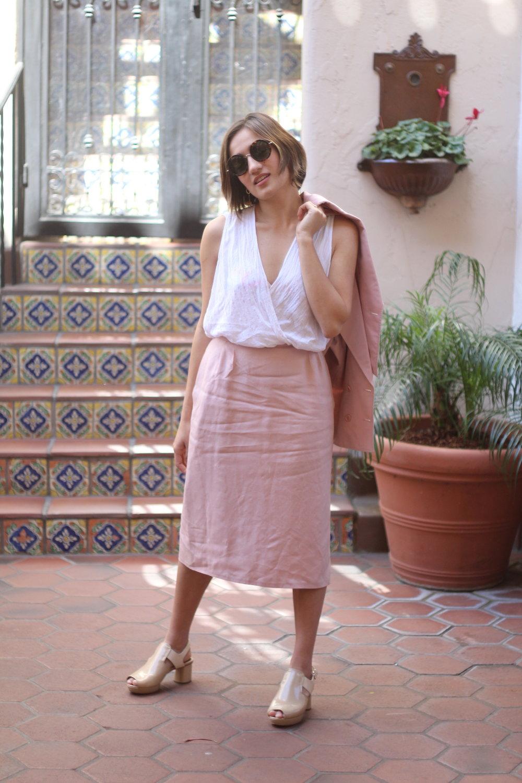 Linen standing sunnies