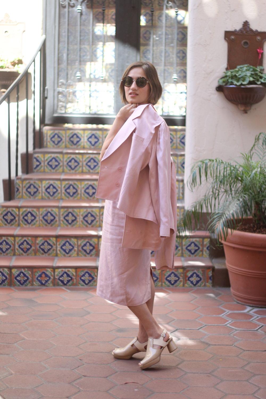 Linen standing jacket