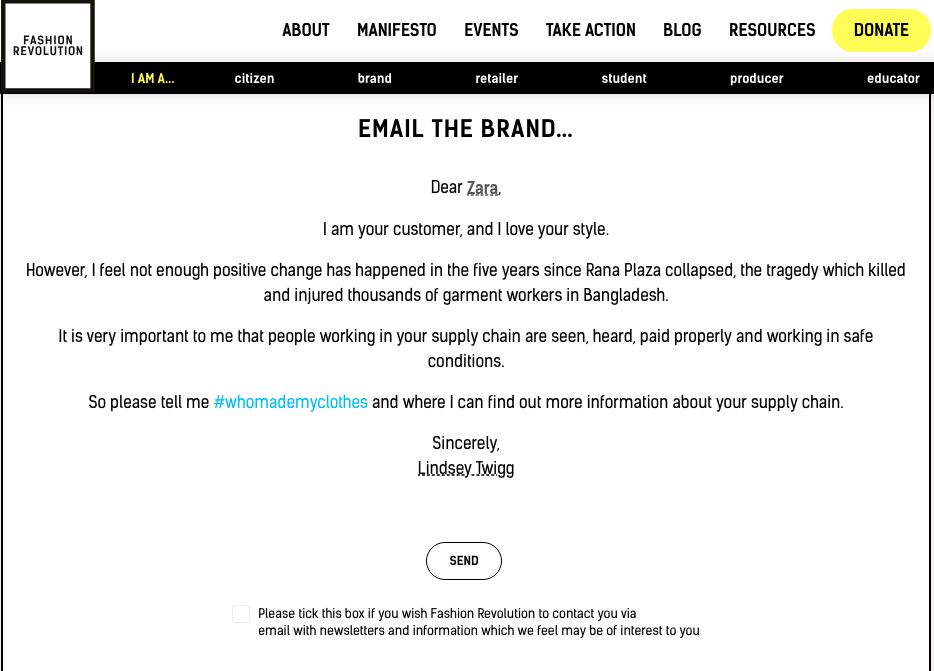 Email a brand! It's dangerously easy!