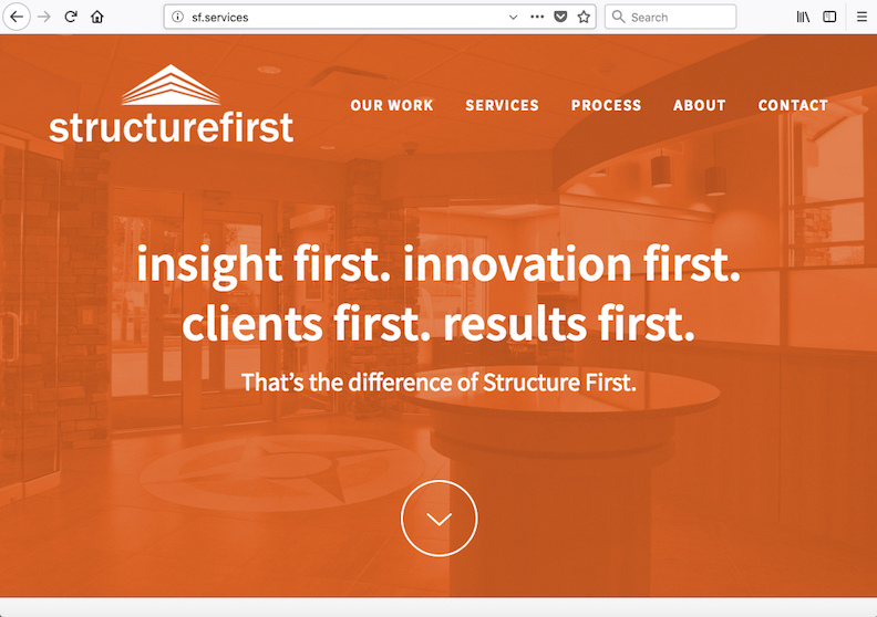 STRUCTURE FIRST   Client Agency/Design: HOT Inc.
