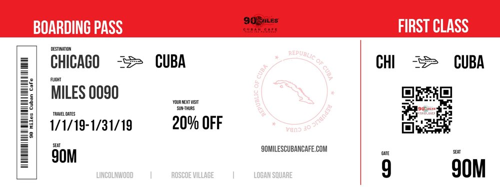 20% off Your Next Visit with Us in Cuba. See Server For Details.