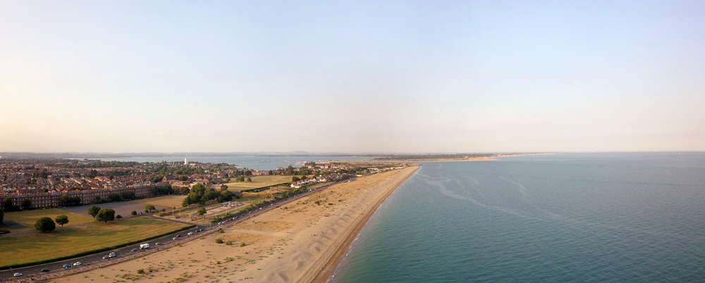 Eastney Beach - Captured from a DJI Mavic Pro at Golden Hour
