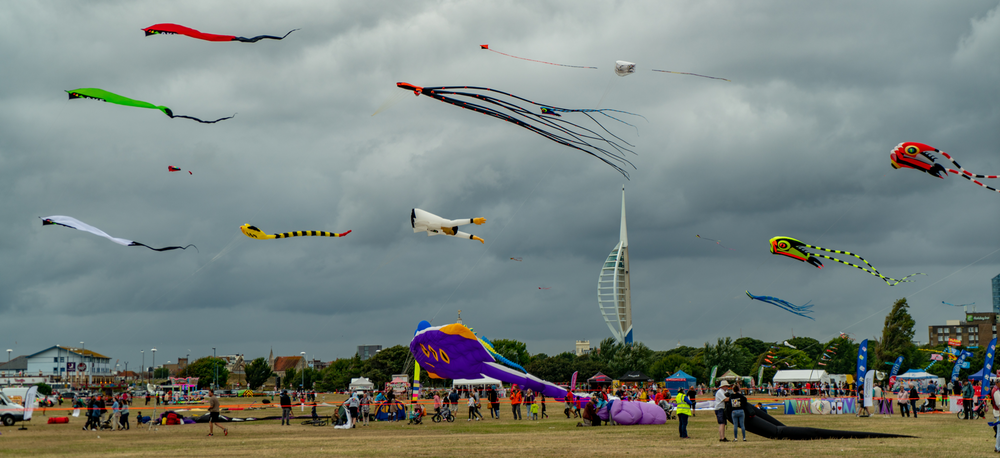 Portsmouth Kite Festival from the ground