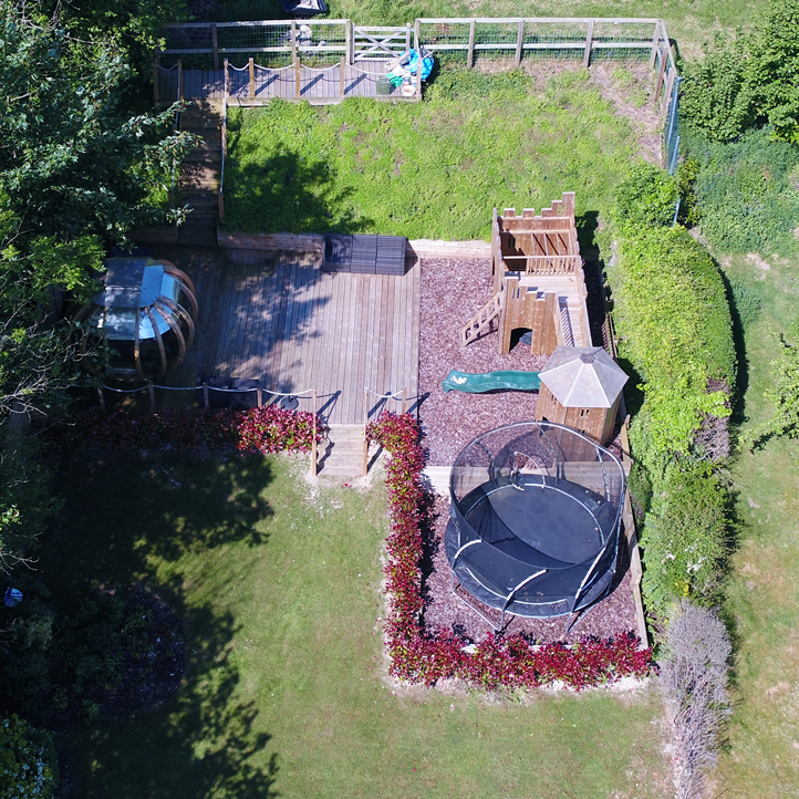 Garden top down view
