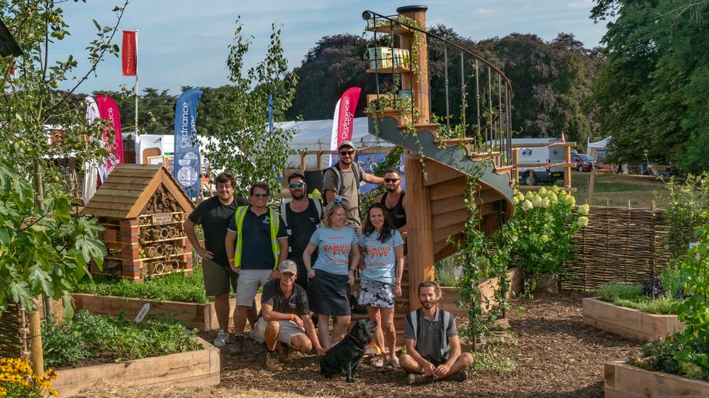The Famous Five Garden build & Media team