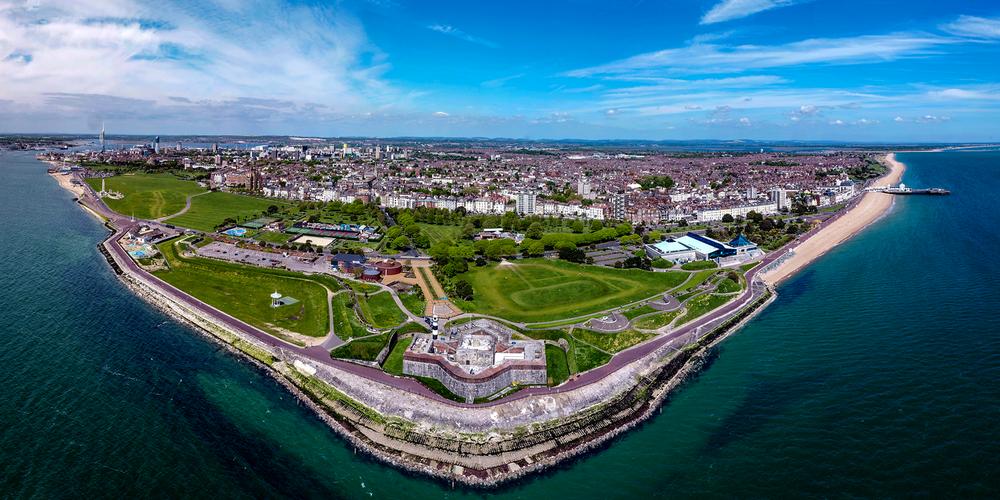 southsea castle aerial view