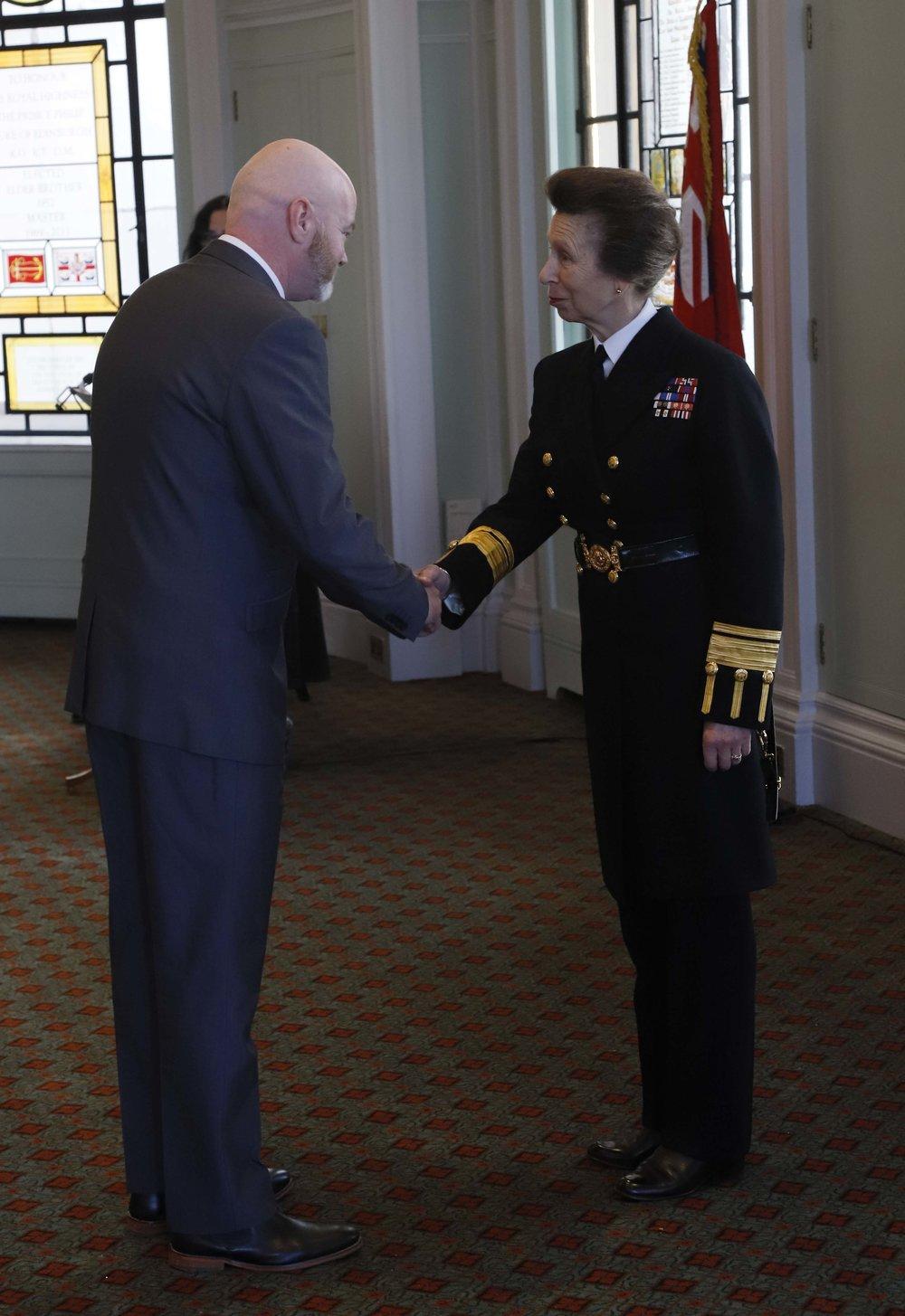 Steve Chamberlain with the  HRH Princess Anne,  Princess Royal