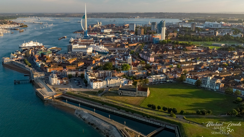 Portsmouth from above Clarence Parade Pier.jpg