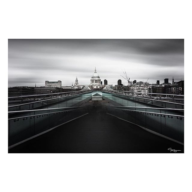 Matriarch. Iconic London most identified in the world by this building, St. Pauls Cathedral. It is the design upon which the US's Capitol building is based, and still kicks design ass. If you were watching my insta stories a few weeks back you'd have seen me trying to take this pic. Taking long exposure pics on a bouncing bridge is not recommended. You can see the ghosting of the hundreds of people that cross this bridge every hour. I'll have to try a 5am capture to get a clean shot at some point. Oh and yes, it is colour. 🎨 But I do like to be sparing, so just a smidge.. ♠️♠️♠️♠️♠️♠️♠️♠️♠️♠️♠️♠️♠️♠️ If you would like to join me on a London workshop (or a coastal or European workshop) follow the link in my bio. Spaces are super limited to keep the quality high.