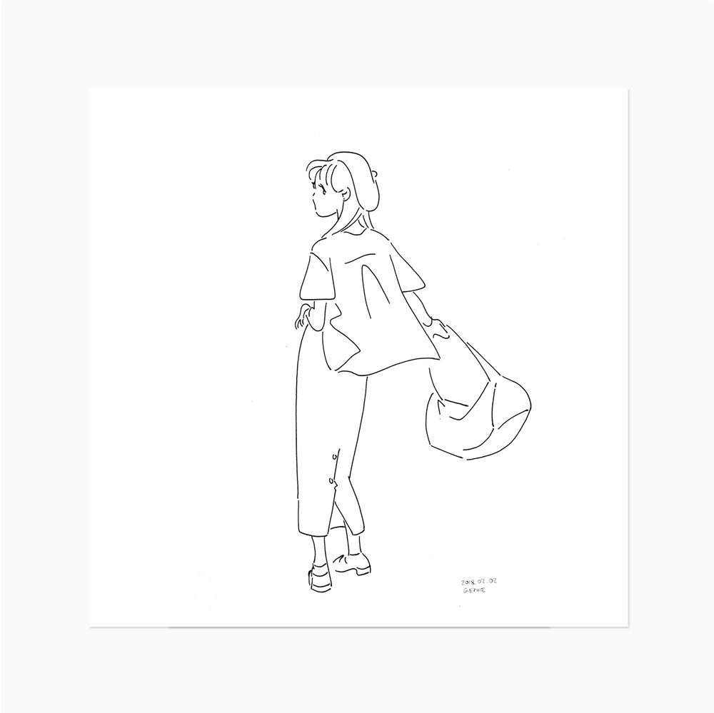 Line Drawing - GIRLS100 TOKYO Art book project