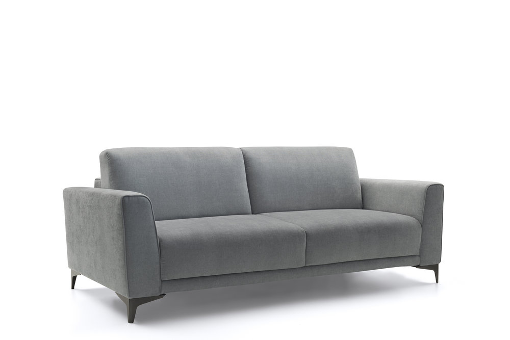 Available With Queen Size Pocketed Springs Mattress Or Smaller Sizes.  Ottoman Also Available. This Italian Sofa Bed Can Be Completely  Disassembled.