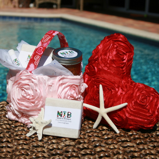 Gift Baskets For Lovers - Select one of our adorable, hand-crafted gift baskets and fill it with her favorite, Made in Broward, beauty items. When you support our young producers, you are truly giving a gift from the heart.
