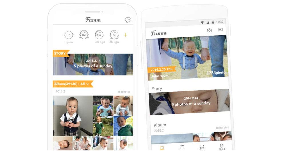 子育て家族で使うアプリ。毎月無料でカレンダーを作ったり、DVDやフォトアルバムも作ることができます。