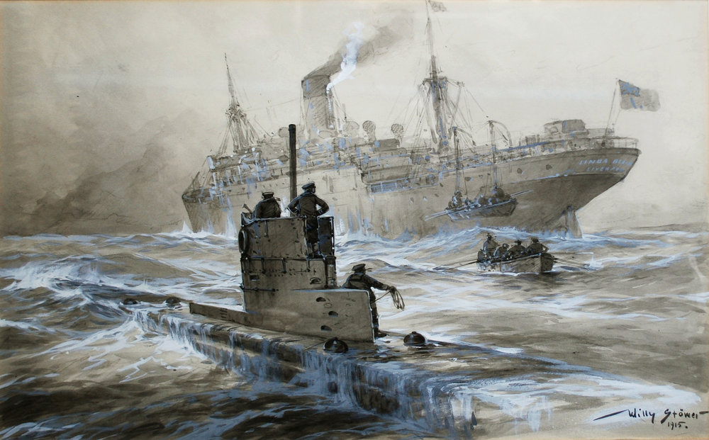 Willy Stöwer (1864–1931): Sinking of the Linda Blanche out of Liverpool