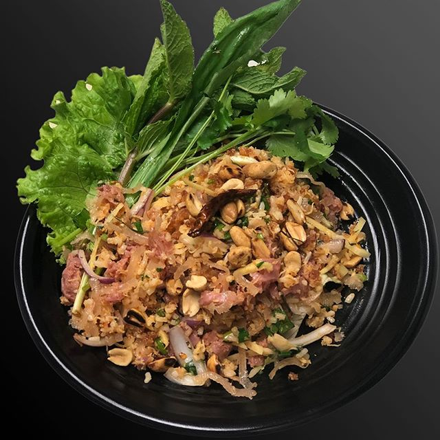 Naem Khao Tod ยำแหนมข้าวทอด หรือที่คนอีสานเรียกว่า แหนมคลุก Crispy Rice salad with sour pork. Nam khao is traditionally eaten as a wrap by lettuce or green leaf with a spoonful of the tangy Nam khao mixture and then topping it with fresh herbs and dried chili peppers.  #naemkhao #naemkhaotod #naemcooks #แหนมข้าวทอด #แหนมคลุก #esanfood  #isanfood  #thaifood  #laosfood  #vietnamesefood #asiancuisine #asiafood #foodie #nycfood #nycdining #nycliving #nyc  #nyclife #nycfoodie #foodlover  #nyceats #nycrestaurants  #nytimescooking #nytimesfood #nytimes #nyc #foodie #yelp #yelpeatsnyc #yelpelite #yelpreview