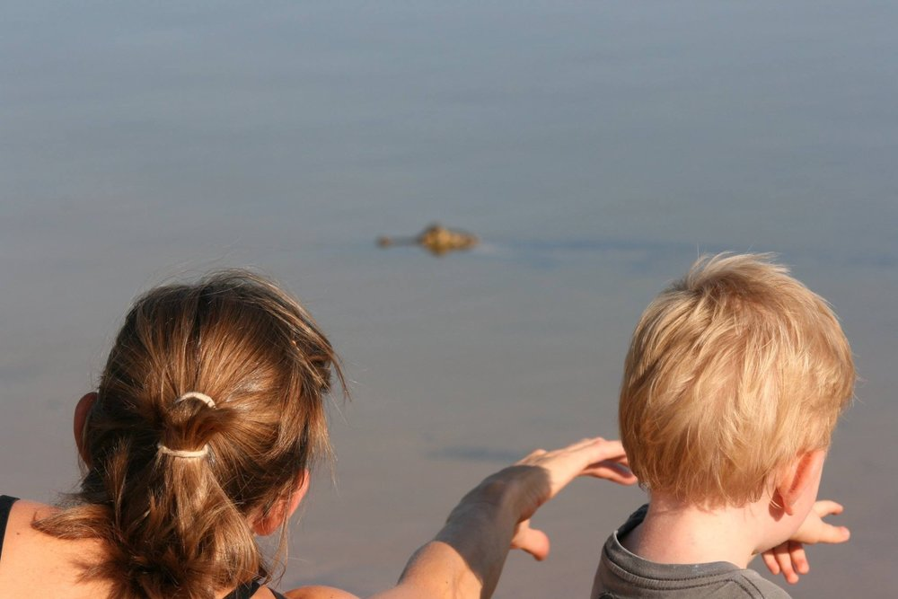Caiman with Children