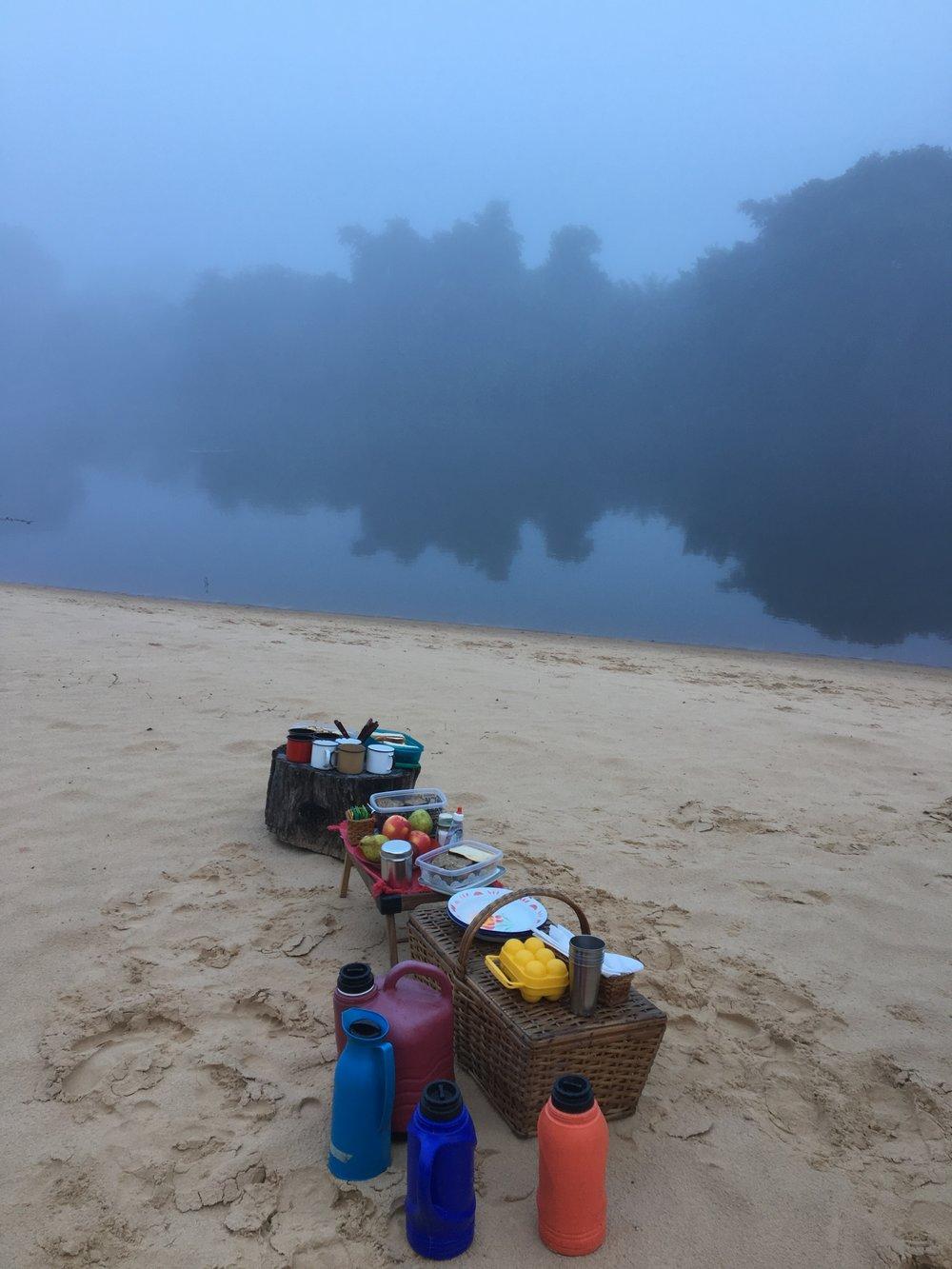 Sunrise Canoe Breakfast