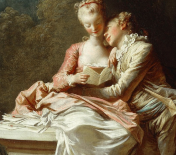 detail from  The Love Letters , from the series  The Progress of Love  by Fragonard, currently housed at The Frick in NYC