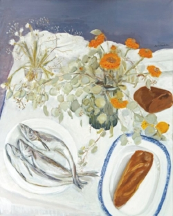 Loaves and Fishes  (1972) by Jane Freilicher. Courtesy of Tibor de Nagy Gallery.