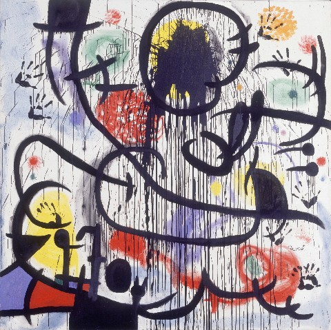 May 1968  by Joan Miró, painted between 1968 and 1973 and inspired by the French protests
