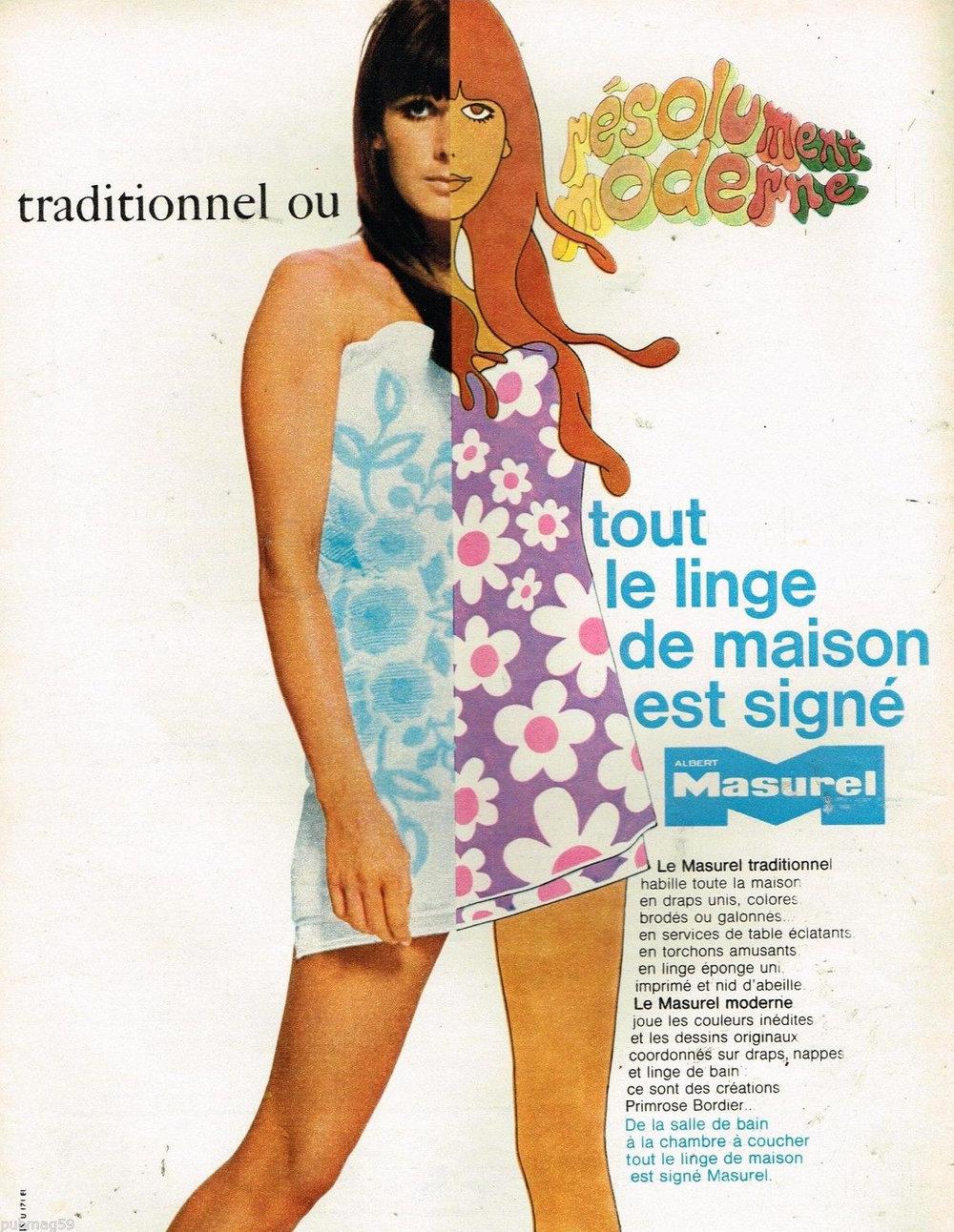French loungewear ad, circa 1966