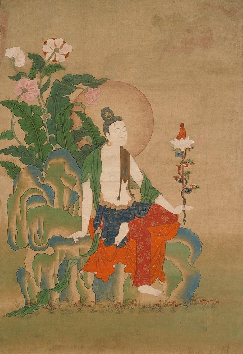 Situ Panchen,  Bodhisattva Avalokiteshvara , 19th Century (Kham Province, Tibet), Pigments on cloth, 20⅛ x 13¾ in., Rubin Museum of Art